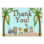 Animal Train Baby Shower Thank You Notecard Cards