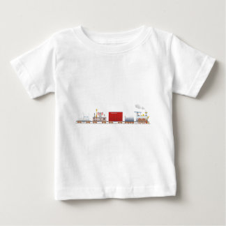 Animal Train Long Baby T-Shirt