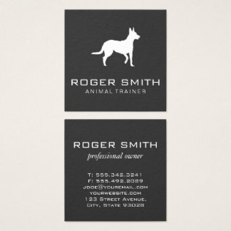 Animal Trainer (gray) Square Business Card