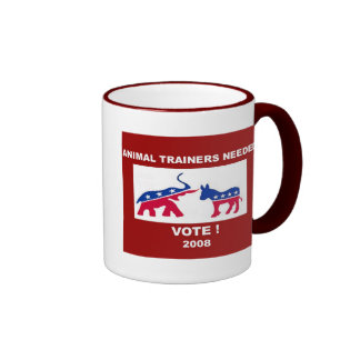 animal trainers needed ringer mug