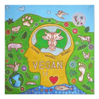 Animal Vegan human planet Card