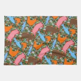 Animal & Vegetable Tea Towel