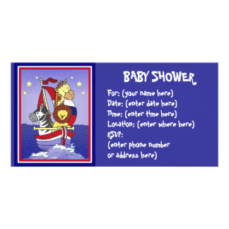 Animal Voyage Americana Baby Shower Picture Card
