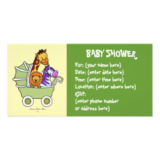 Animal Walk 5 Baby Shower Card