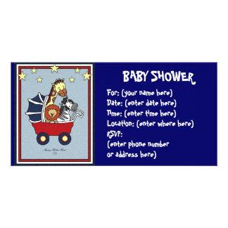 Animal Walk Baby Shower Photo Cards