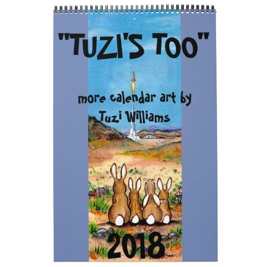 Animal Wildlife Art 2018 Calendar Humourous Rabbit