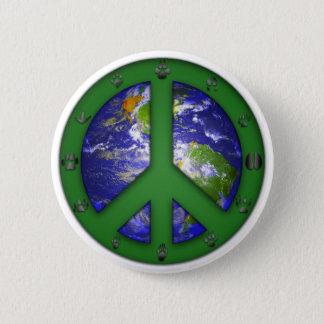 Animal World Coexist 6 Cm Round Badge