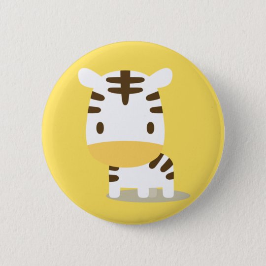 Animal zebra can badge