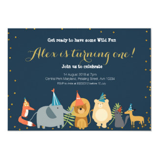 Animal Zoo Birthday Invitation