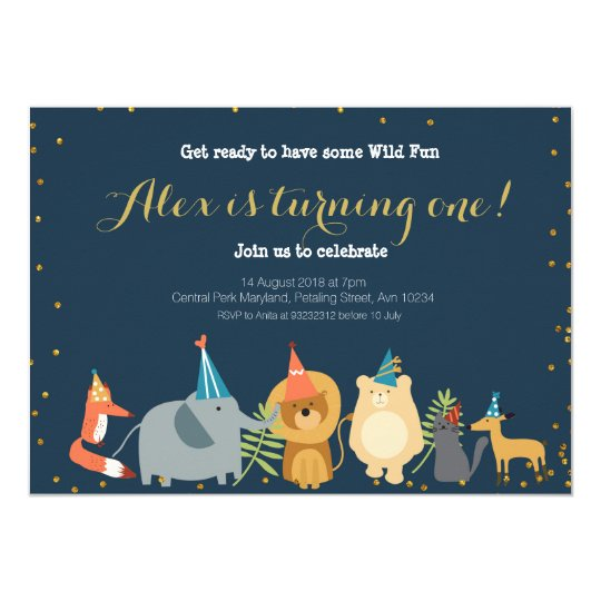 Animal Zoo Birthday Invitation