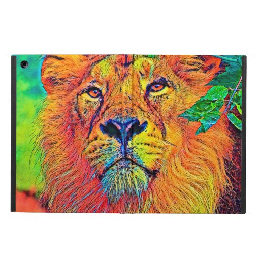 AnimalColor_Lion_001_by_JAMColors Case For Ipad Air