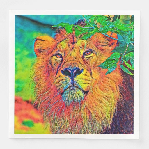 AnimalColor_Lion_001_by_JAMColors Disposable Napkin