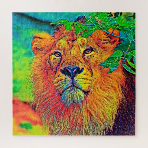 AnimalColor_Lion_001_by_JAMColors Jigsaw Puzzle