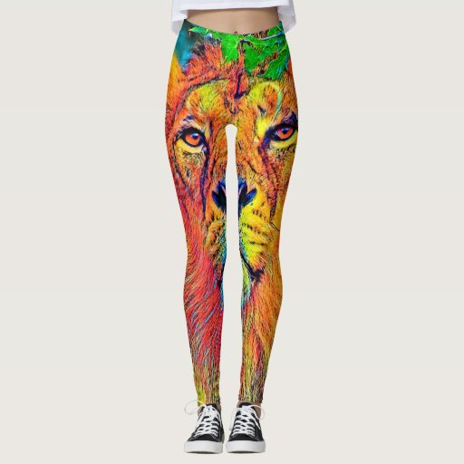 AnimalColor_Lion_001_by_JAMColors Leggings