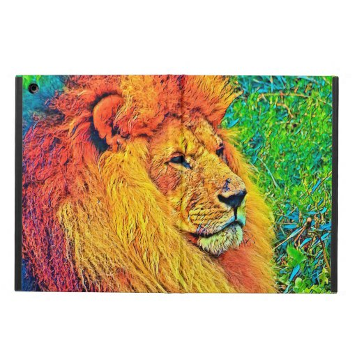 AnimalColor_Lion_003_by_JAMColors Case For Ipad Air