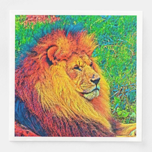 AnimalColor_Lion_003_by_JAMColors Disposable Napkin