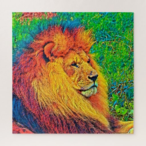 AnimalColor_Lion_003_by_JAMColors Jigsaw Puzzle