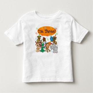 Animals 3rd Birthday Toddler T-Shirt