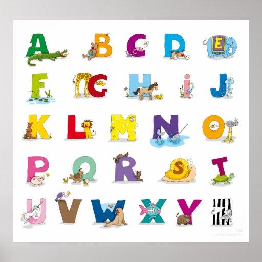 Animals-Alphabet poster