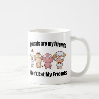 Animals are my friends coffee mug