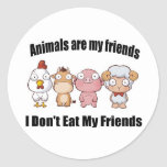 Animals are my friends stickers