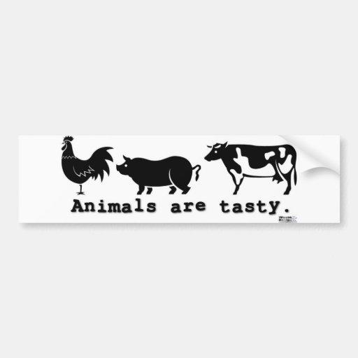 Animals are tasty bumper stickers