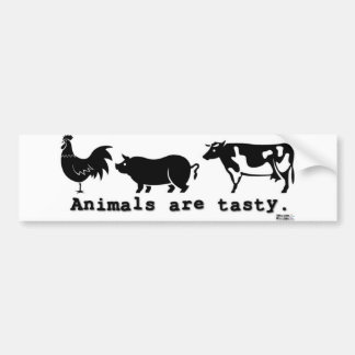 Animals are tasty bumper stickers