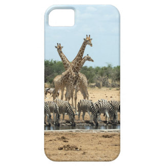 Animals at a waterhole barely there iPhone 5 case