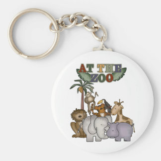 Animals At the Zoo Key Chains