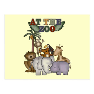 Animals at the Zoo Tshirts and Gifts Post Card