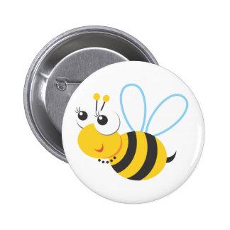 Animals - Bee 6 Cm Round Badge