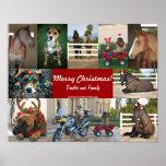 Animals christmas print