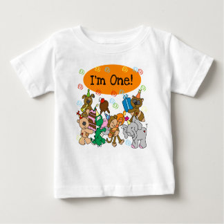 Animals First Birthday Baby T-Shirt