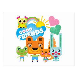 Animals Good Friends Postcard