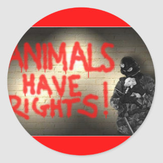 Animals Have Rights! Classic Round Sticker