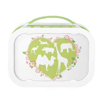 Animals in a Heart Shape Lunch Box