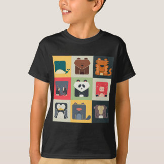 Animals in Square T-Shirt