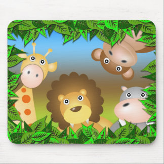 animals in the forest mouse pad