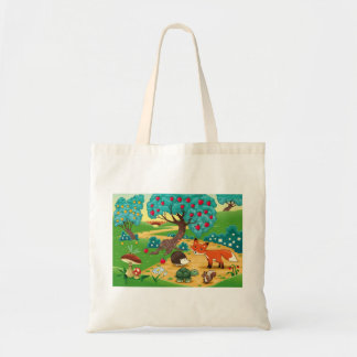 Animals in the wood tote bag