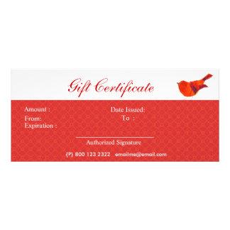 Animals Lovely Red Little Bird Rack Card Template