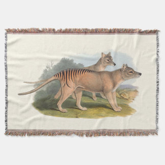Animals Of Australia The Tasmanian Tiger Throw Blanket