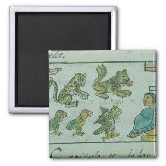 Animals of the Aztec Emperor Magnet