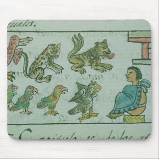 Animals of the Aztec Emperor Mouse Mat