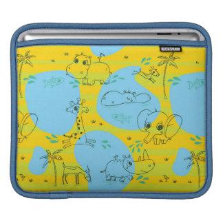 Animals playing baby pattern background iPad sleeve