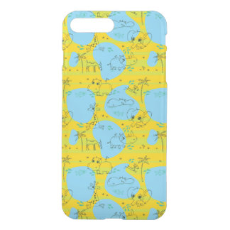 Animals playing baby pattern background iPhone 8 plus/7 plus case