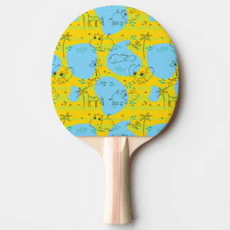 Animals playing baby pattern background ping pong paddle