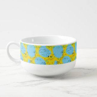 Animals playing baby pattern background soup mug