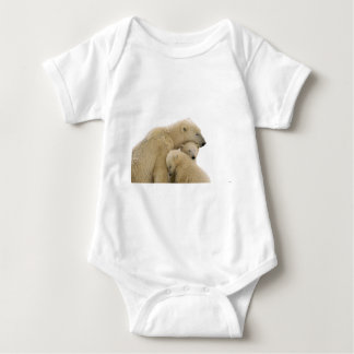 animals-polar-bear baby bodysuit