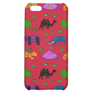 Animals - Purple Turtles & Blue Elephants Case For iPhone 5C