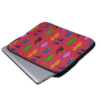 Animals - Purple Turtles Blue Elephants Laptop Sleeves